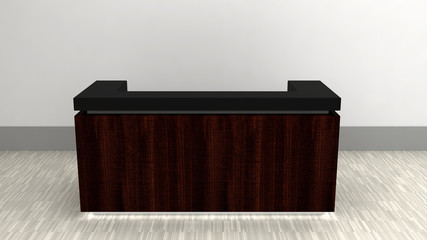 darkwood reception counter