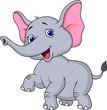 Elephant cartoon dancing