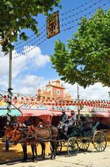 Coche de caballos en la Feria de Sevilla