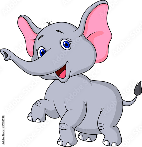 Elephant cartoon dancing