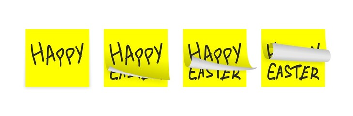 easter yellow adhesive papers