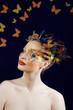creative make up like butterfly