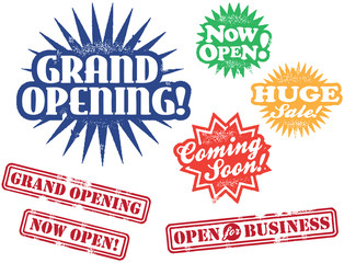 Grand Opening Retail Stamps