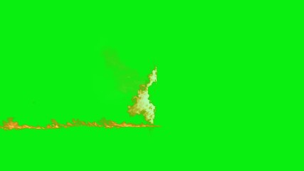 line of word of Fire with green screen