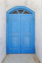 House door in a Mediterranean island