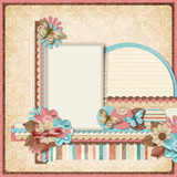Retro family album.365 Project. Scrapbooking templates.