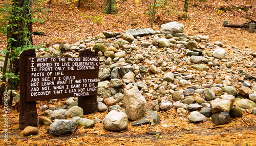 Site of Henry David Thoreau's cabin on Walden Pond