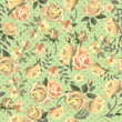 pretty green roses seamless background