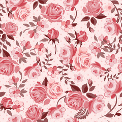 classic roses seamless background