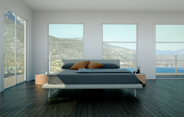 Schlafzimmer im Strandhaus