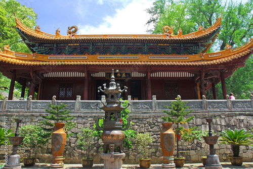 China, PutuoShan Buddhist sanctuary island Fayu temple