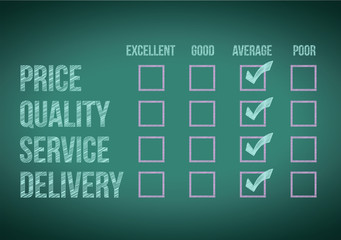 evaluate customer survey form illustration design