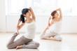 attractive asian women exercising
