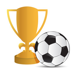 Gold Trophy Cup football socce