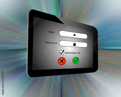 Login and  tablet
