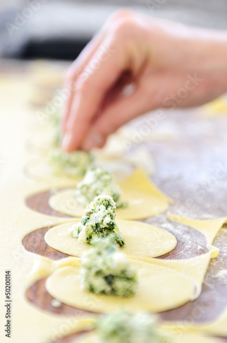 Spinach and ricotta filling for ravioli