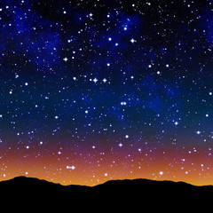 starry sky at night