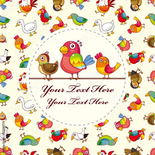 bird card