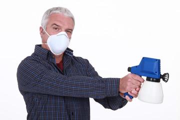 Craftsman with a spray gun