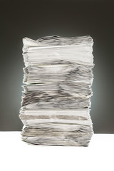 A pile of papers