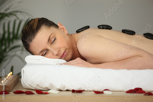 woman in relaxation cure