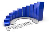 Graph - Profit - blue
