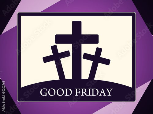 Abstract colorful religious background for good friday.