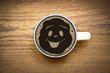 Smiley im Kaffee