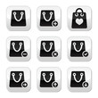 Shopping bag vector buttons set