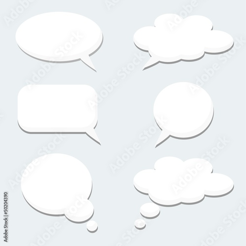 Speech thought dialog bubble, vector