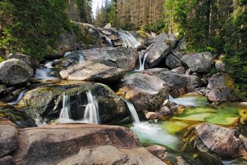 Waterfall in Tatra mountain, Slovakia - Studenovodsky