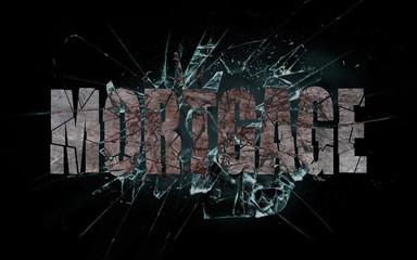 Concept of violence or crash, mortgage