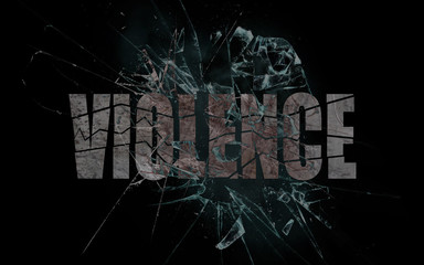 Concept of violence or crash, violence