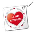 """Anhänger """"12. Mai Muttertag"""" rot, Herz, 2013"""