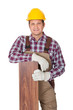 Worker with laminate piece