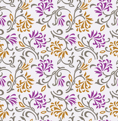 Seamless floral background-wallpaper-pattern