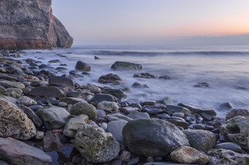 Morning tide on the Blast Beach, Dawdon, County Durham, UK