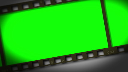Horizontal movie strip showing chroma key spaces