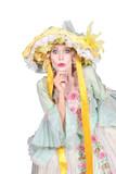 Woman wearing Easter bonnet