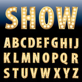 Fototapety show letters
