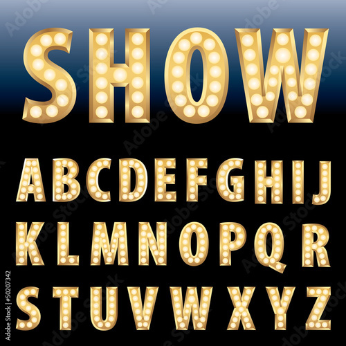 show letters