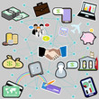communication and business icons set