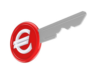 Euro sign on a key.