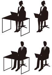 Business People Silhouett