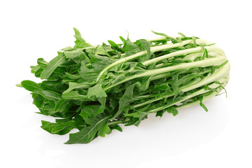 Chicory salad on white with clipping path