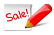 Sale-Notiz, Bleistift,vektor
