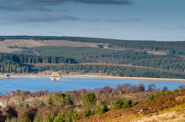 Kielder Dam and valve tower