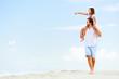 beach stroll family