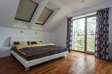 Bedroom with balcony