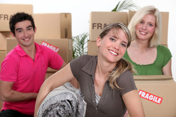 Young people moving house